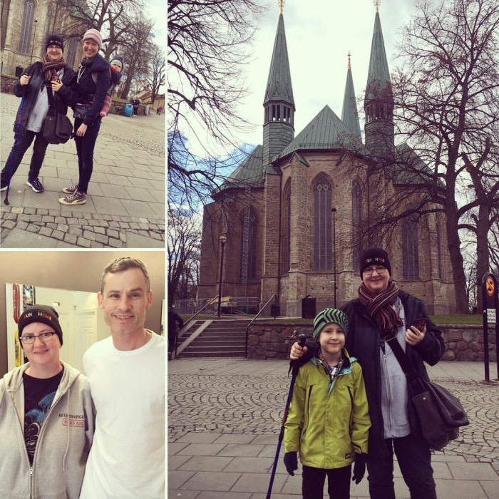 With my brother's family inSweden